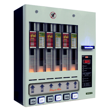 Pull tab machine